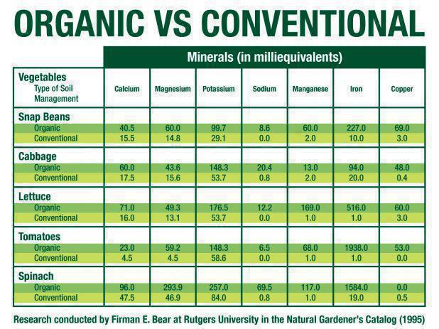 Organic vs conventional